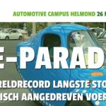 Eindhovense e-parade vestigt aandacht op elektrisch rijden
