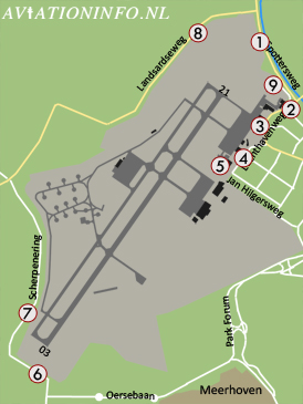 Eindhoven Airport Plattegrond