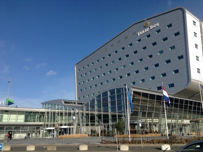 Entree van de luchthaven in Eindhoven.