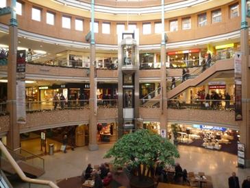 Binnenzijde Heuvelgalerie in Eindhoven